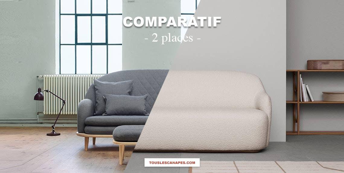 Comparatif : Canapé 2 places pour petits espaces fixe et convertible