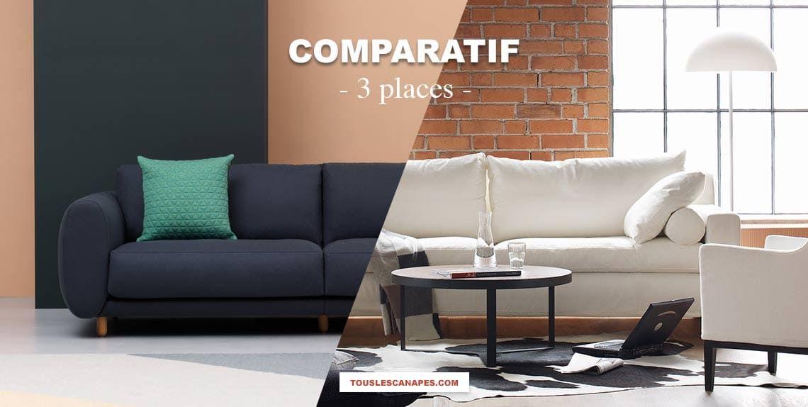 Comparatif : Canapé 3 places fixe et convertible