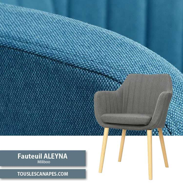 Fauteuil Aleyna style scandinave chez Miliboo
