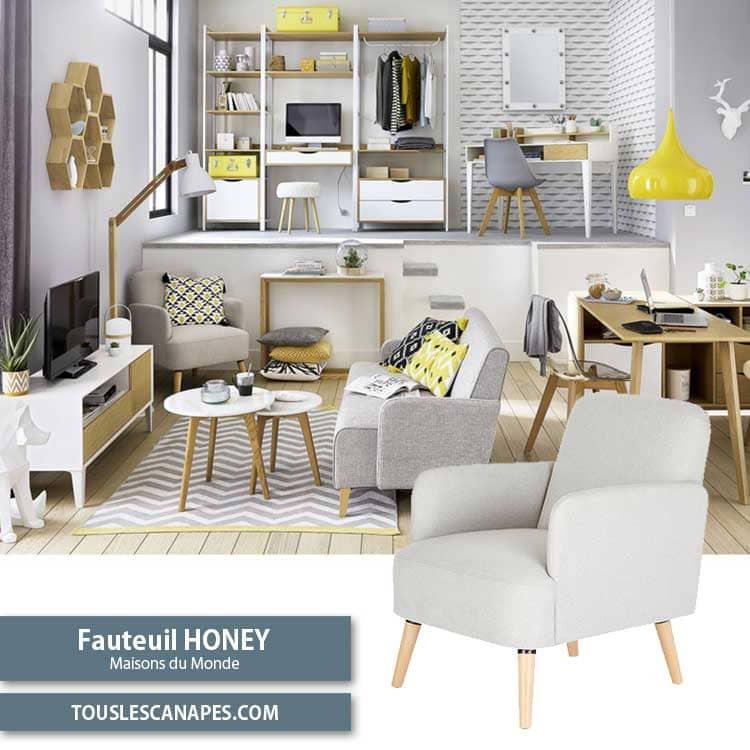 Fauteuil Honey Maisons du Monde