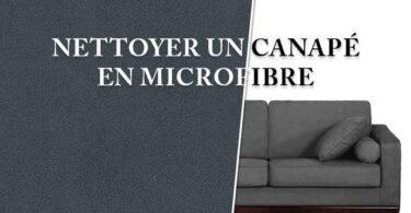 Comment nettoyer un canapé en microfibre