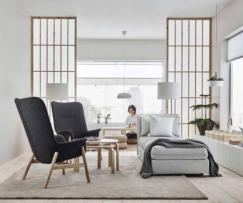 petit salon avec fauteuils Vedbo