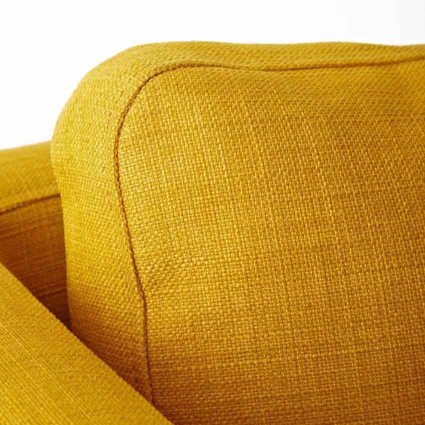 Fauteuil Ekero de Ikea en tissu jaune