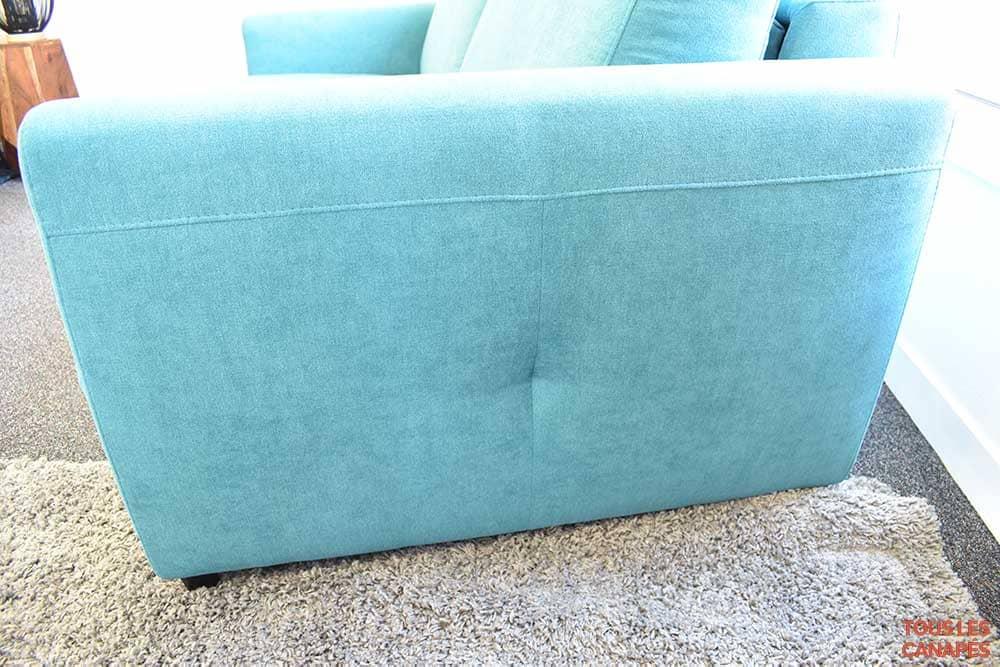 Accoudoir droit du canapé lit Brun de Mecazza - Touslescanapes.com