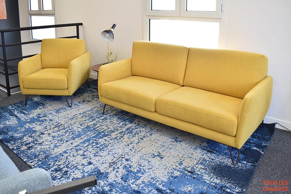 Duo de canapé et fauteuil Carol de Mecazza - Touslescanapes.com