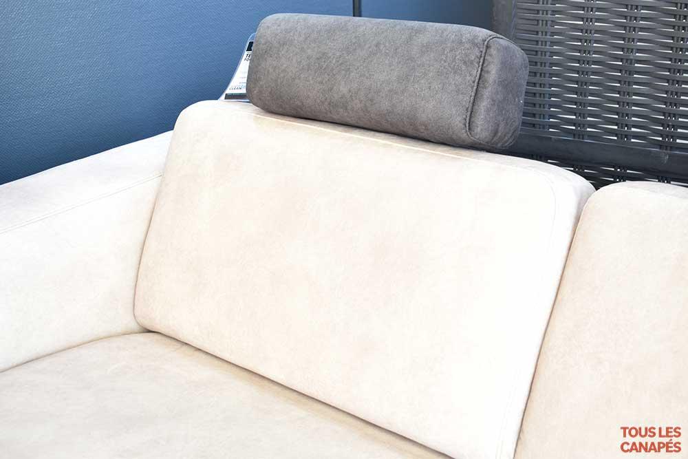 Canapé Thomas coussins assise avec têtière amovible - Touslescanapes.com