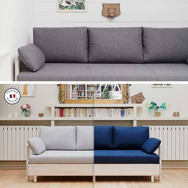 Canapé lit Tediber 3 places style gigogne - Touslescanapes.com