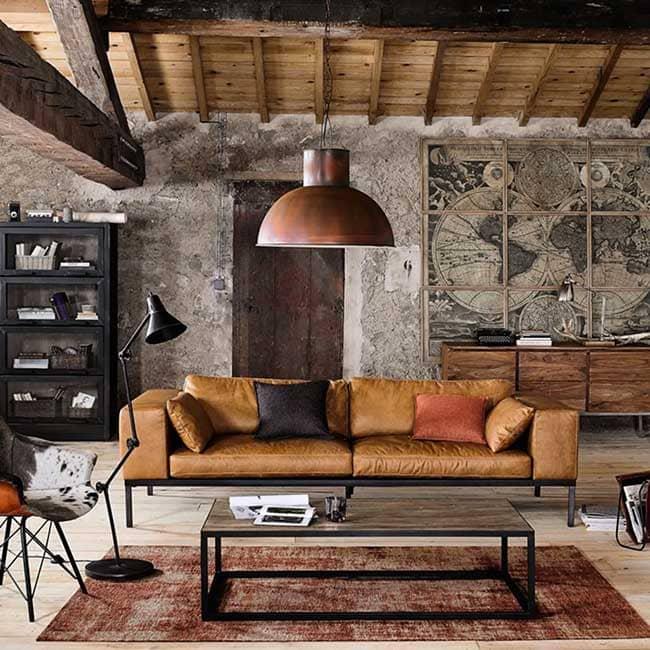 Avis canapé 4 places droit en cuir Maisons du Monde Wellington - Touslescanapes.com