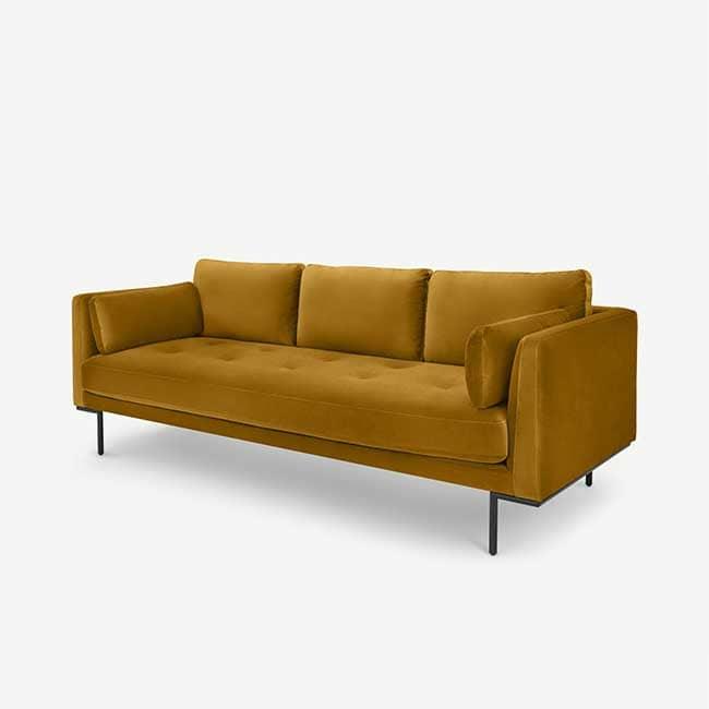 Canapé jaune confortable Harlow - Touslescanapes.com