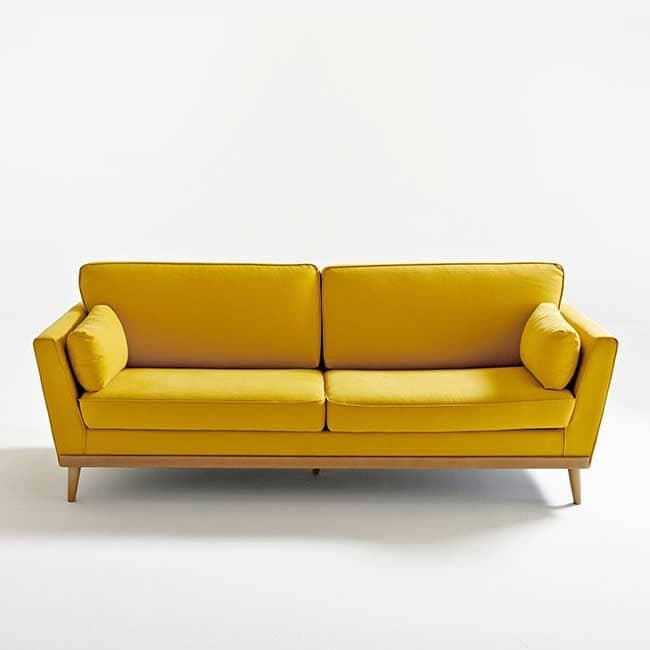 Canapé jaune moutarde Tasie - Touslescanapes.com
