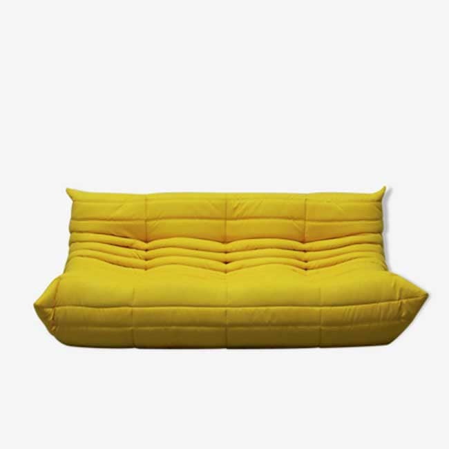 canapé jaune design Togo - Touslescanapes.com