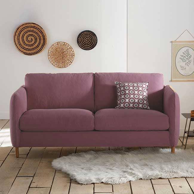 Avis sur le canapé 3 places rose Loméeo - Touslescanapes.com