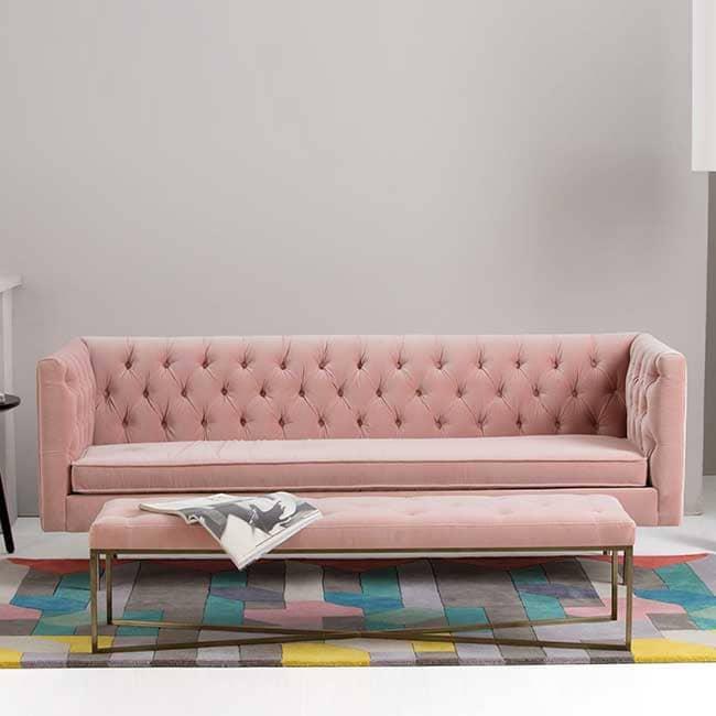 Avis sur le canapé capitonnée rose Julianne - Touslescanapes.com