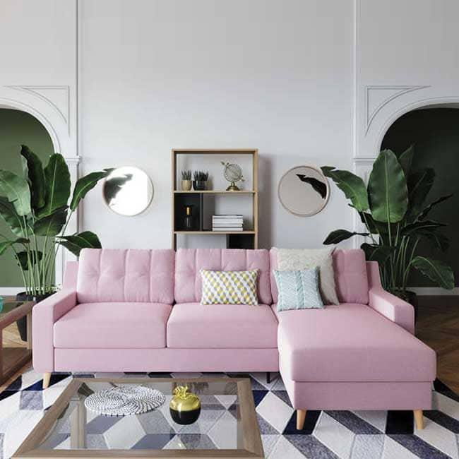 Avis sur le canapé d'angle rose Conforama Salvea - Touslescanapes.com