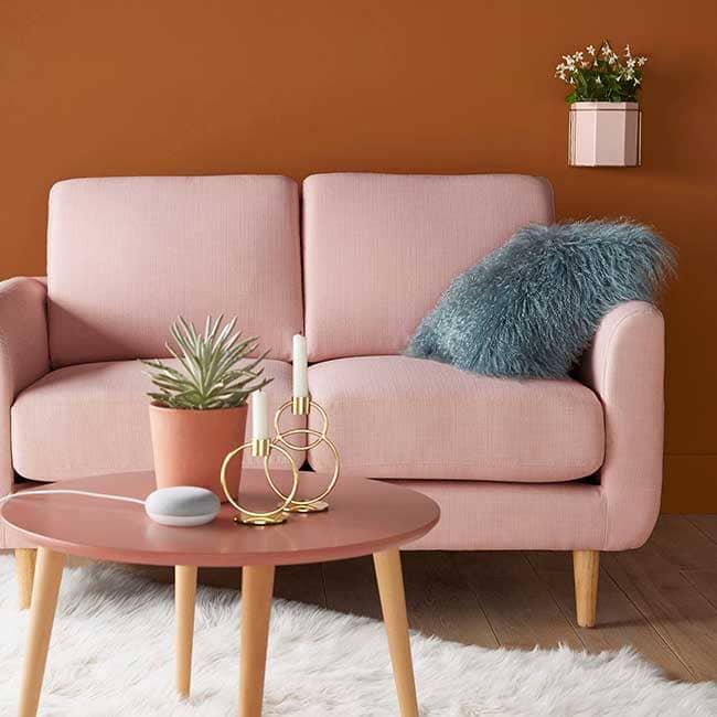 Avis sur le canapé rose clair Jimi - Touslescanapes.com