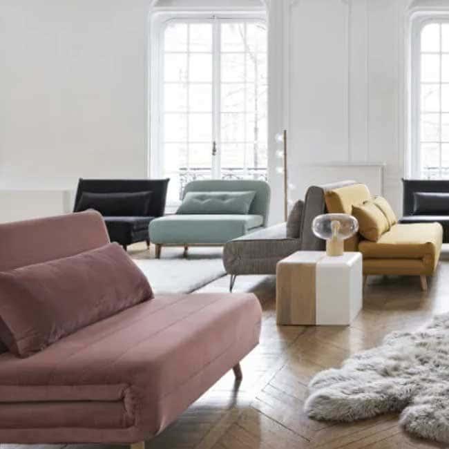 Avis sur le canapé rose velours Nio - Touslescanapes.com
