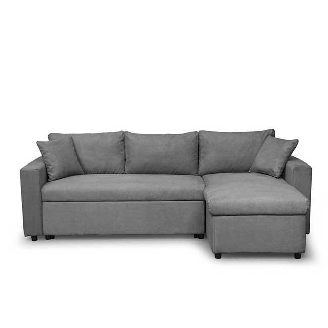 Canapé gris en angle Maria - Touslescanapes.com