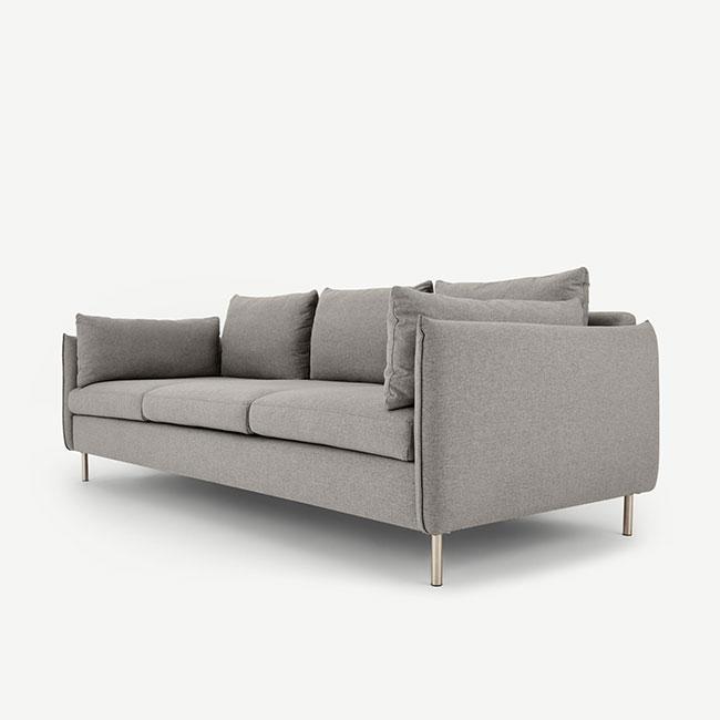 Canapé gris confortable Vento - Touslescanapes.com
