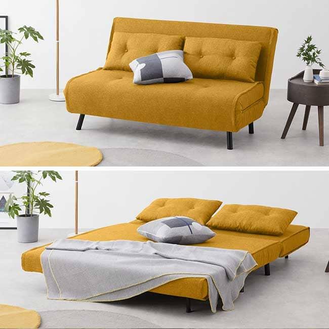 Canapé jaune sans accoudoir Haru - Touslescanapes.com